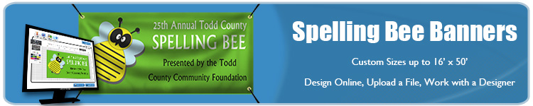 Custom Spelling Bee Banners from Banners.com