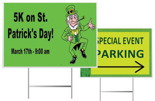 Custom Yard Signs for St. Patrick's Day Events