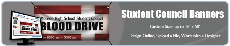 Custom Vinyl Banners for Student Council Events from Banners.com