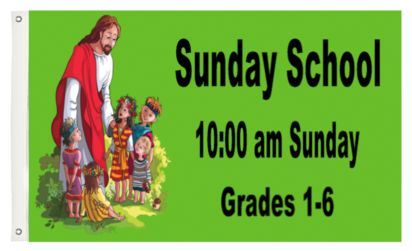 Custom Printed Sunday School Fabric Flag | Banners.com