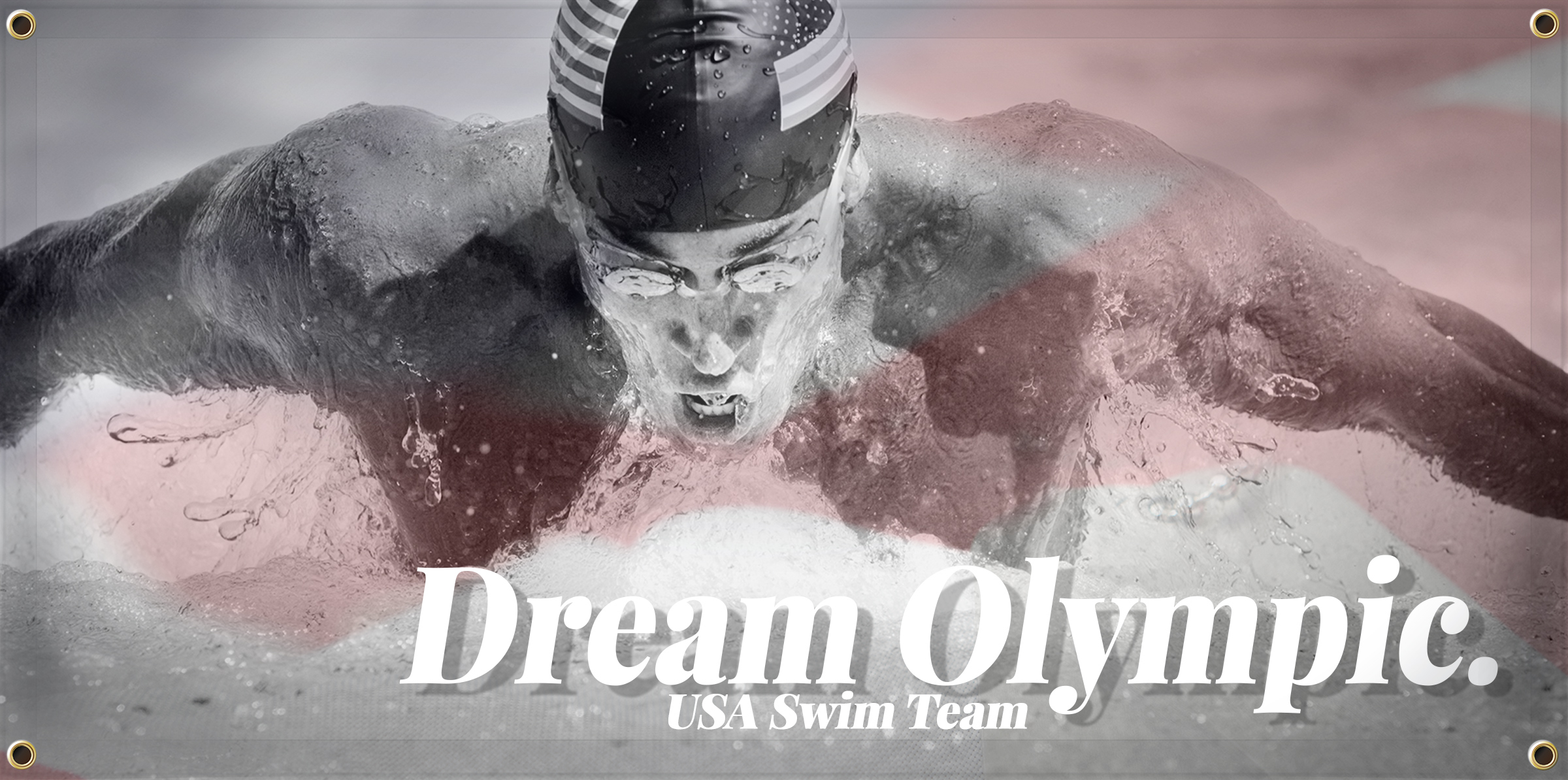Swimming Banner Idea - Dream Olympic | Banners.com