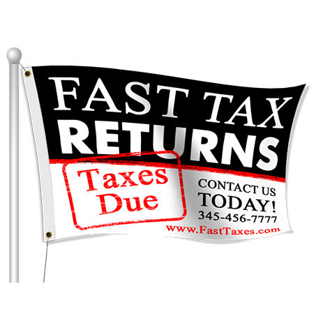 Custom Printed Advertising Tax Flags | Banners.com