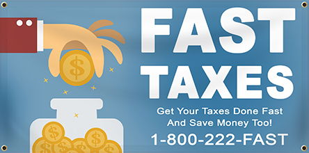 Tax Service Banners from Banners.com