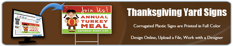 Custom Thanksgiving Yard Signs from Banners.com