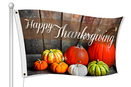 Custom Thanksgiving Flags | Banners.com