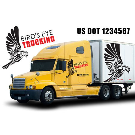 Semi Truck Decals - add DOT and Company Info | Banners.com