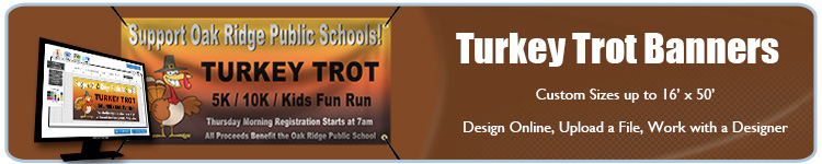 Custom Turkey Trot Banners from Banners.com