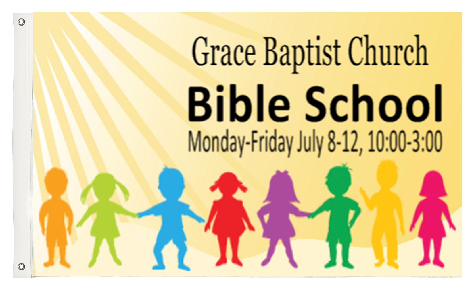 Custom Printed Vacation Bible School Fabric Flag | Banners.com