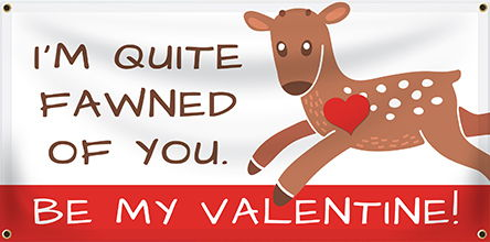 Valentine's Day Banners - Custom Happy Valentine's Day Banners
