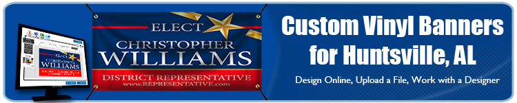 Custom Vinyl Banners for Huntsville, AL from Banners.com