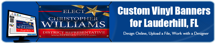 Custom Vinyl Banners for Lauderhill, FL from Banners.com