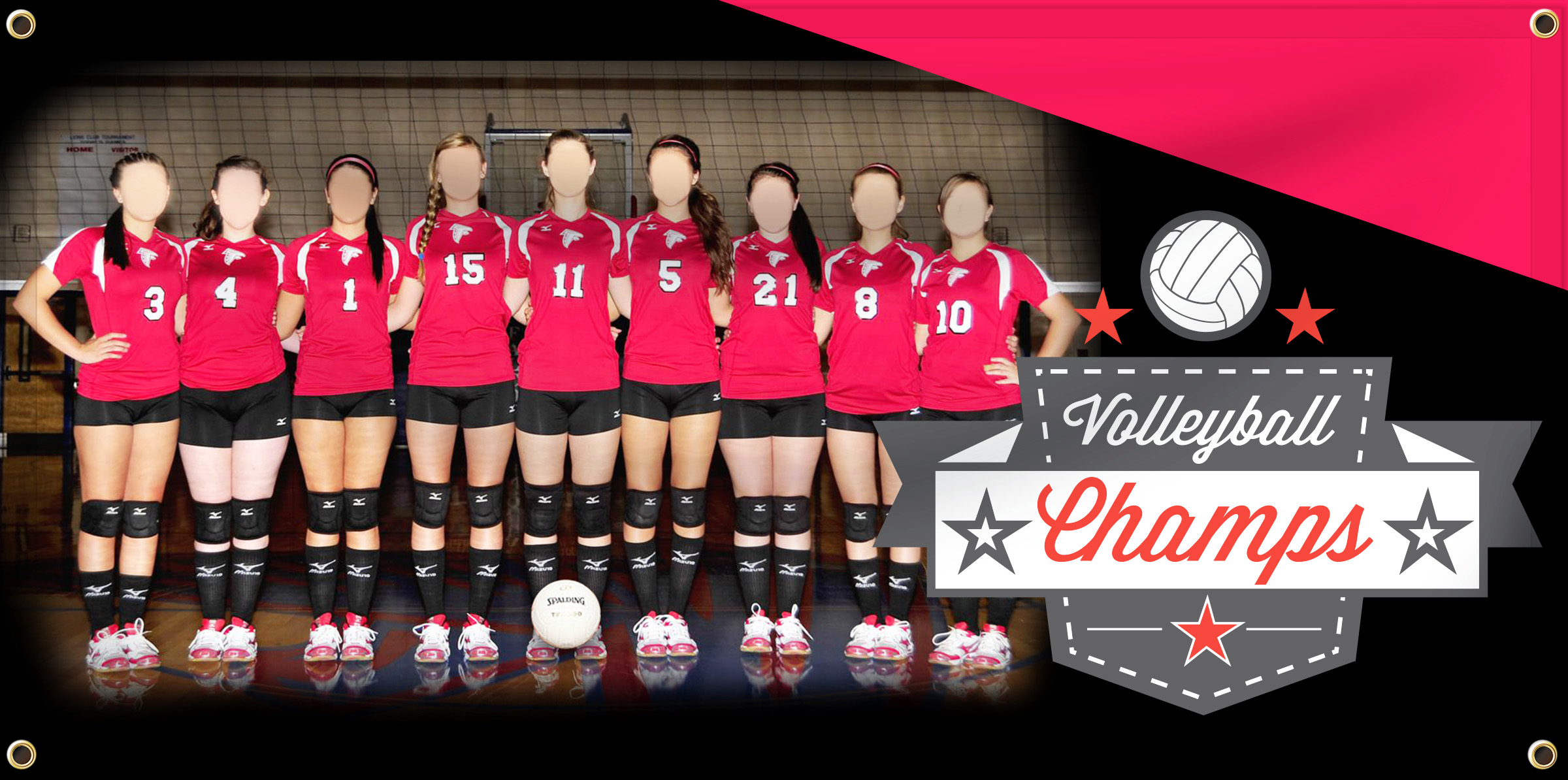 Volleyball Team Banner Example | Banners.com