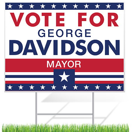 Political Yard Sign Sample