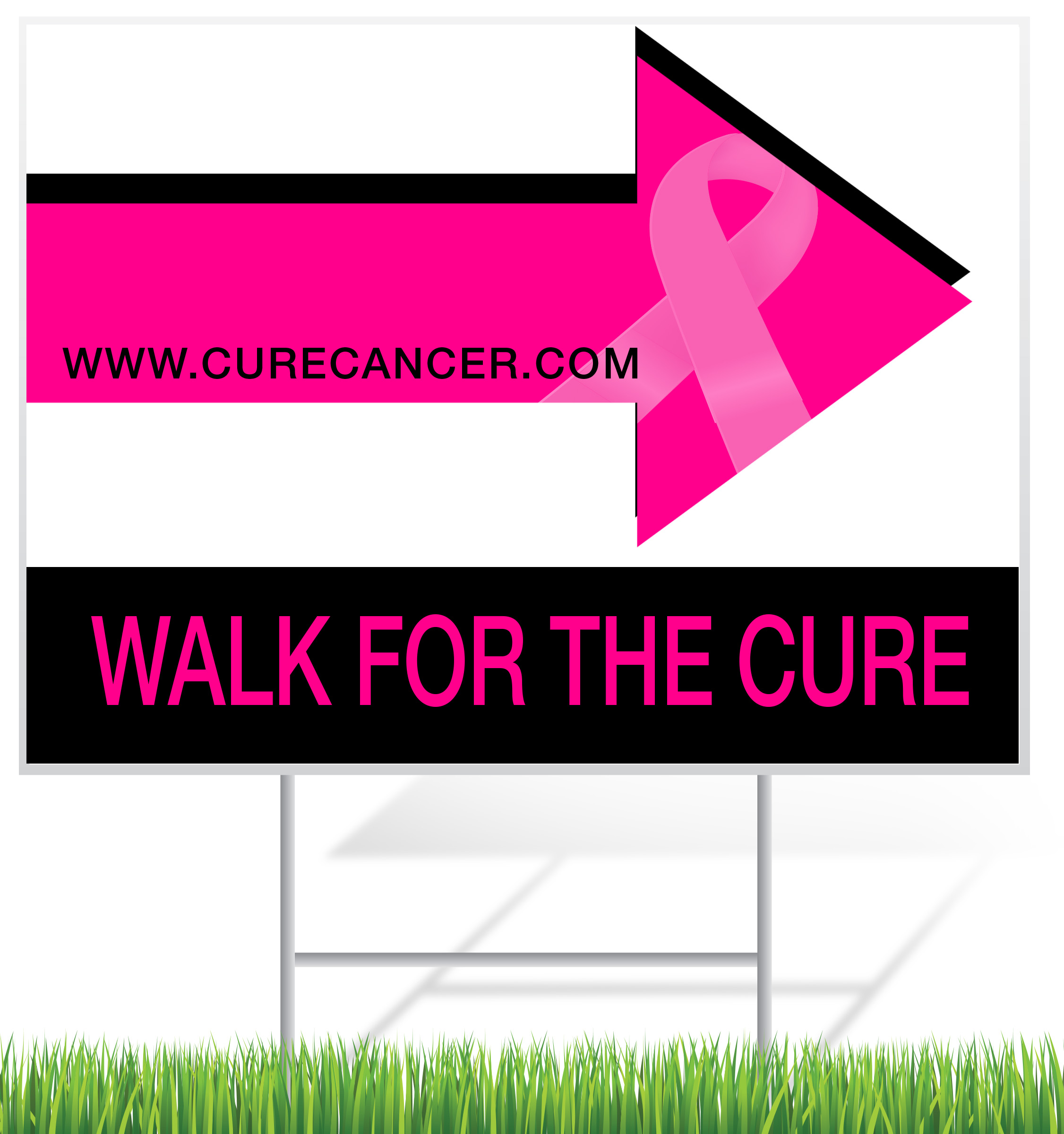 Breast Cancer Awareness Yard Sign Sample | Banners.com