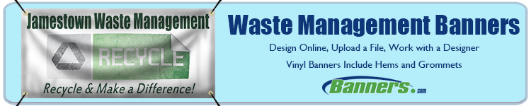 Custom Banners for Waste Management Companies from Banners.com