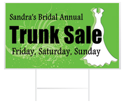 Wedding Yard Sign Examples from Banners.com