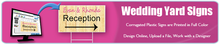 Wedding Yard Signs - Order Custom Signs from Banners.com