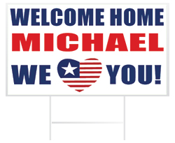 Welcome Home Yard Sign Example from Banners.com