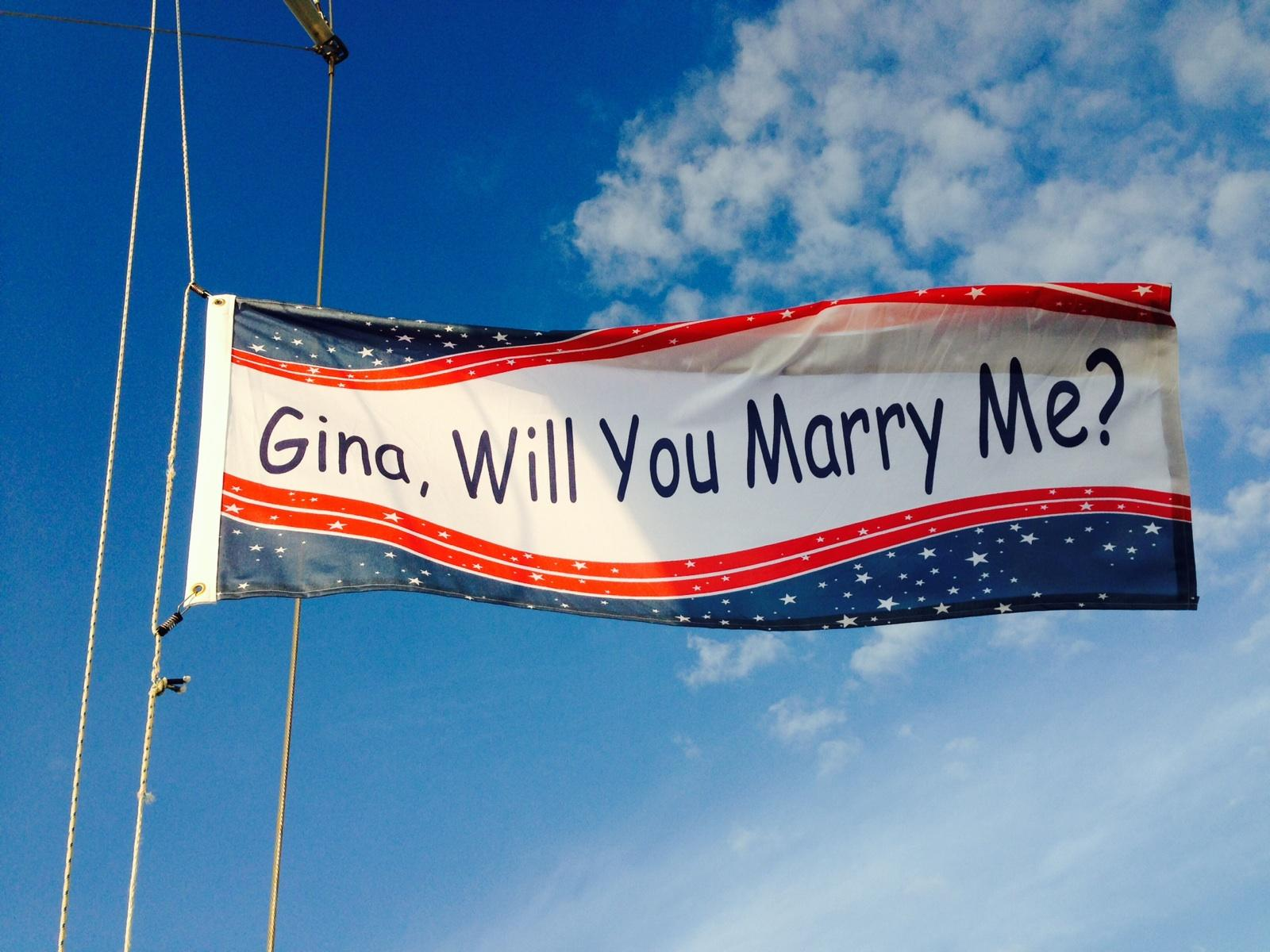 Will You Marry Me Printed Flag | Banners.com