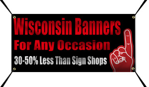 Custom Banners For Oshkosh, Wisconsin From Banners.com