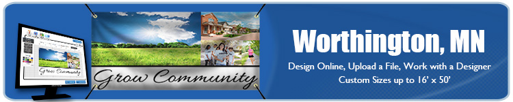 Custom Vinyl Banners for Worthington, MN | Banners.com