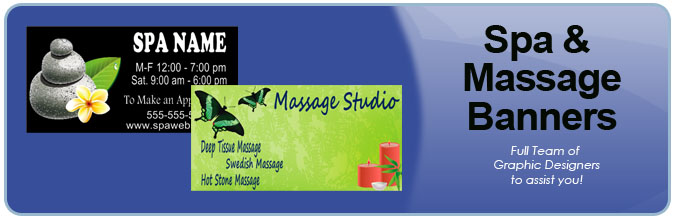 Spa and Massage Banners from Banners.com