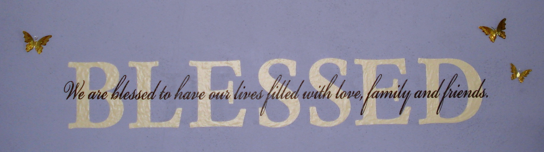 Bless Wall Graphic with blue background
