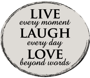 Live Laugh Love Wall Graphic