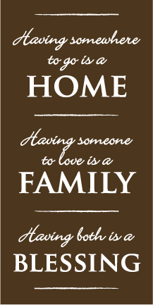 Home Family Blessing Wall Graphic