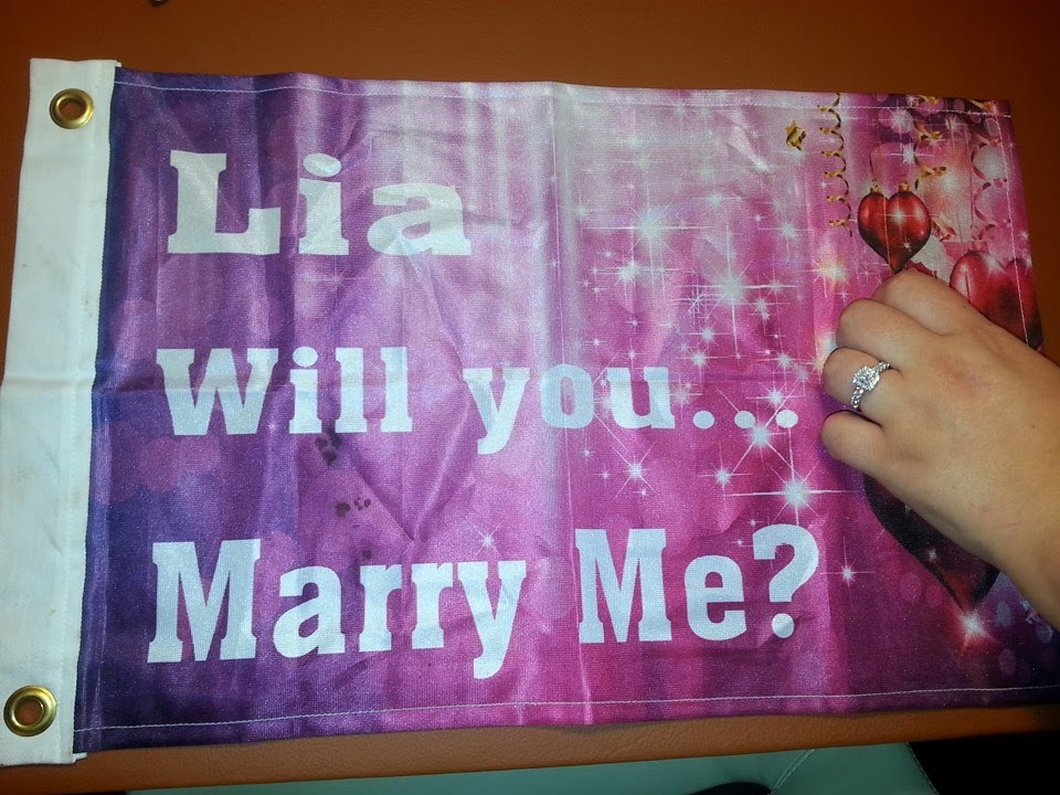 Proposal Flag - Printed by Banners.com