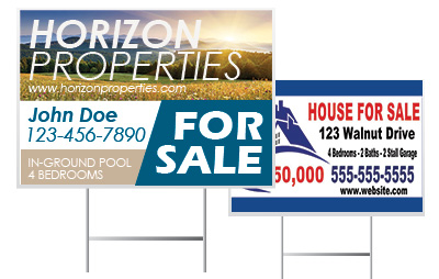 Custom Real Estate Yard Signs | Banners.com